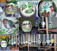 MY EASTER EGG PAINTING IS STARTED by Heidi Mooney-Hill
