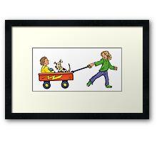 Wagon Pull Framed Print