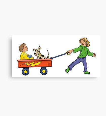 Wagon Pull Canvas Print