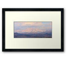Meeker and Longs Peak Twin Peaks Panorama Color Image Framed Print