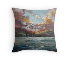 Goat Fell, Arran Throw Pillow