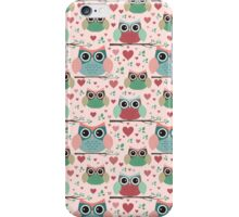 Owls in Love Pattern iPhone Case/Skin