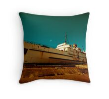 Beached Liner Throw Pillow