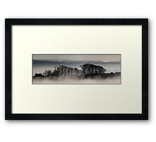 Trees above the Mist (Original Version) Framed Print