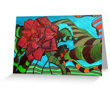 252 - CAMELIA DESIGN - DAVE EDWARDS - ACRYLIC - 2009 Greeting Card