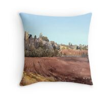 Red field  Throw Pillow