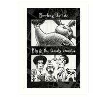 Bowling Tire/Family Crumbs Art Print
