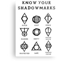 Know Your Shadowmarks (Dark) Metal Print