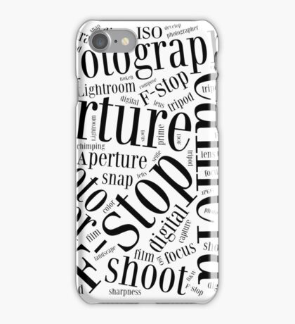 Photography Word Cloud iPhone Case/Skin