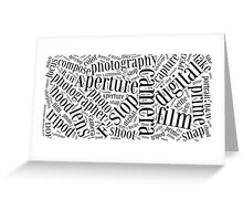 Photography Word Cloud Greeting Card