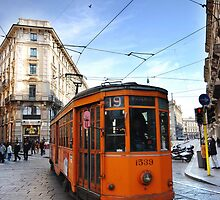 Tram in Milan by Stephen Knowles