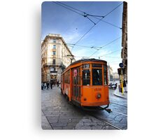 Tram in Milan Canvas Print