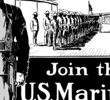 Join The U.S. Marines -- The Soldiers That Go To Sea Sticker
