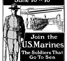 Join The U.S. Marines -- The Soldiers That Go To Sea by warishellstore