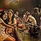 two friends at the bar by marcwellman2000