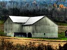 Pennsylvania White Barn  by Marcia Rubin