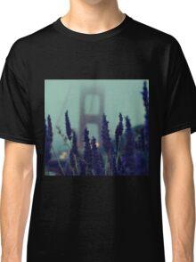 """Purple Haze Daze"" Golden Gate Bridge Classic T-Shirt"