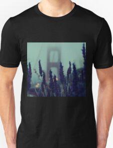 """Purple Haze Daze"" Golden Gate Bridge Unisex T-Shirt"