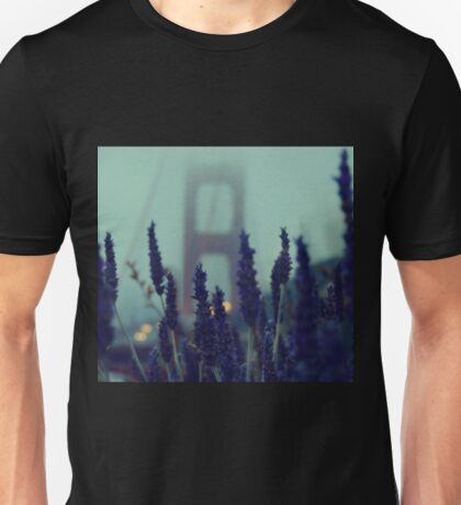 """Purple Haze Daze"" Golden Gate Bridge Unisex T-Shirt"