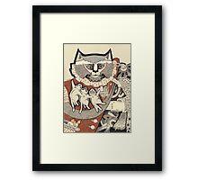 Kitten Papa Framed Print