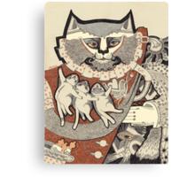 Kitten Papa Canvas Print