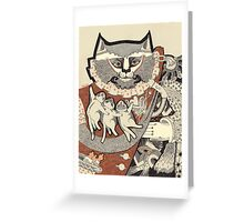 Kitten Papa Greeting Card