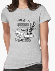 A Cursed Night Womens Fitted T-Shirt