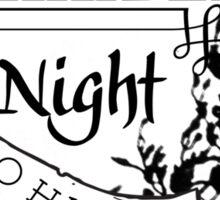 A Cursed Night Sticker