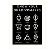 Know Your Shadowmarks (Light) Art Print