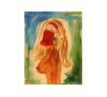 Veiled woman Art Print