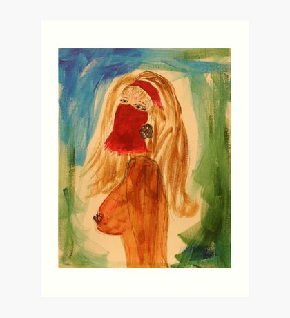 Veiled woman Art Print