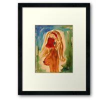 Veiled woman Framed Print