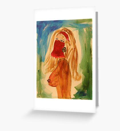 Veiled woman Greeting Card