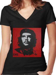 Red Che Women's Fitted V-Neck T-Shirt