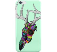 mayan deer skull dots iPhone Case/Skin