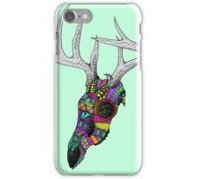 mayan deer skull dots iPhone Case/Skin