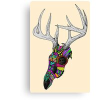 mayan deer skull dots Canvas Print