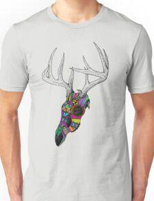 mayan deer skull dots Unisex T-Shirt