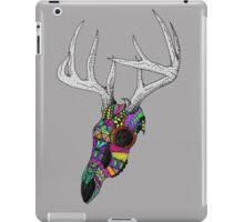 mayan deer skull dots iPad Case/Skin