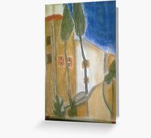 """""""Gracie Modigliani - """"Cypress Trees and Houses"""" / 1919"""" Greeting Card"""