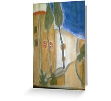 """Gracie Modigliani - ""Cypress Trees and Houses"" / 1919"" Greeting Card"