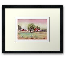SUMMER MORNING - AQUAREL Framed Print