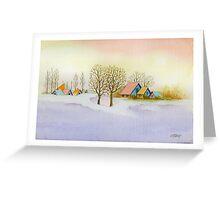 WINTER MORNING - AQUAREL Greeting Card