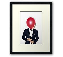 Jimmy Fallon with Red Balloon Framed Print