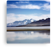 Winter on the Great Salt Lake Antelope Island Utah Canvas Print