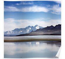 Winter on the Great Salt Lake Antelope Island Utah Poster