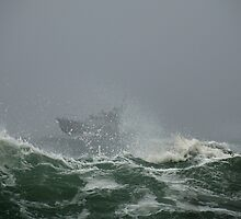 USCG Motor Lifeboat – Eastern Point, Gloucester by Steve Borichevsky