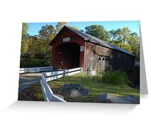 Green River Covered Bridge - Guilford, Vermont Greeting Card