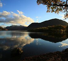 Last Light Crummock Water by Linda Lyon