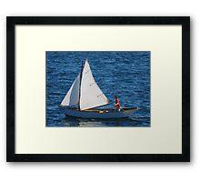 Tom's Sail Dory  Framed Print